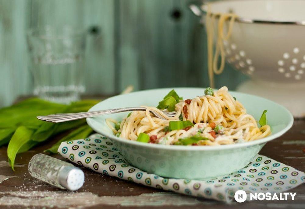Medvehagymás spagetti