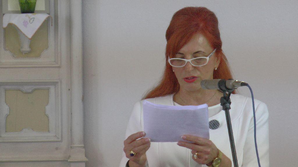 A Szentkereszty Stephanie Egyesület elnöke méltatta az intézményalapítót Fotó: Kertész Tibor