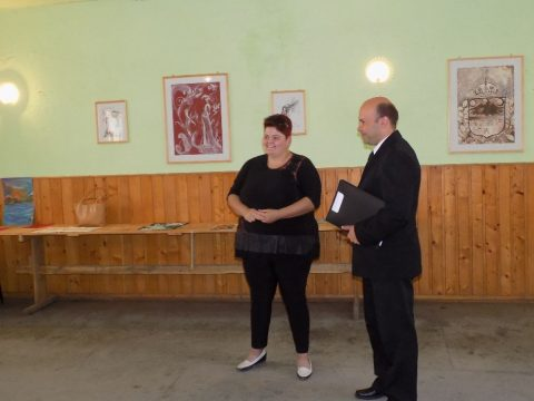Dénes Rozália-kiállítás Középajtán
