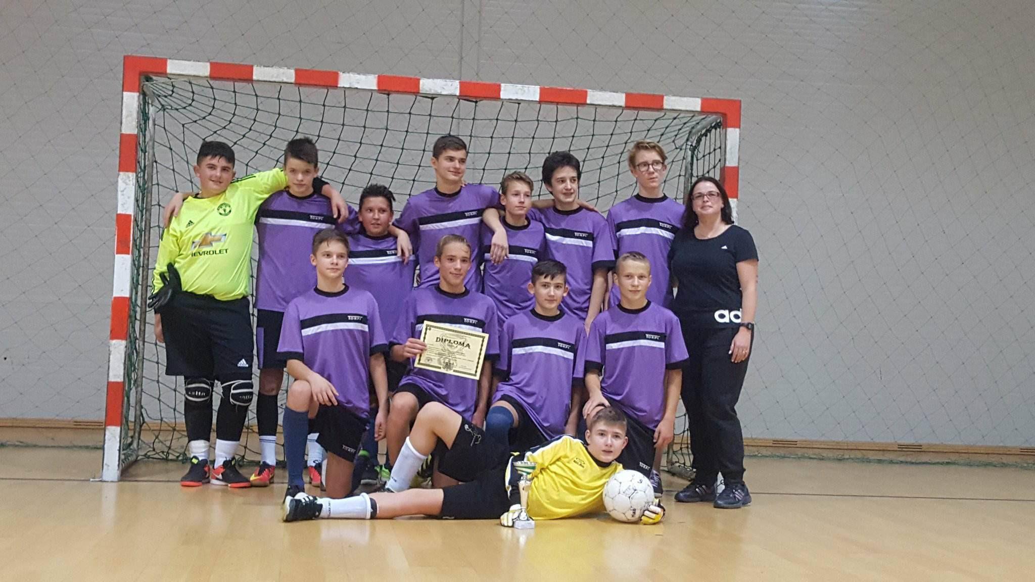 A győztes futballcsapat