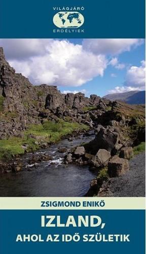 Izland zord sziklái a könyv borítóján