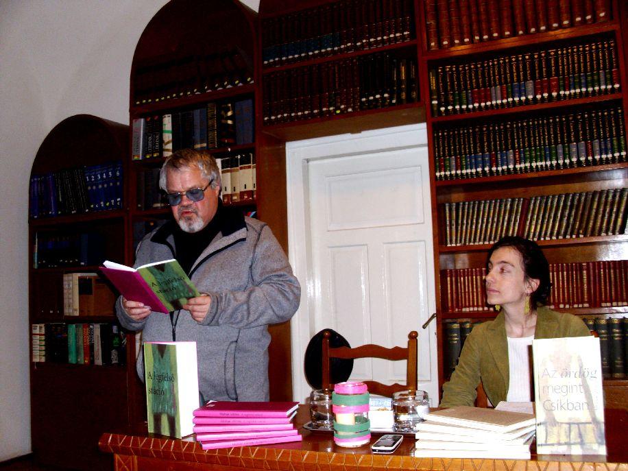 Domokos Zsófia (jobbról) kérésére Molnár Vilmos a kötődéseiről is beszélt
