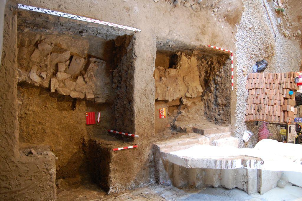 A feldobolyi középkori templom feltárt alapjai