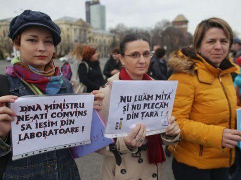 Vegyészek tüntettek