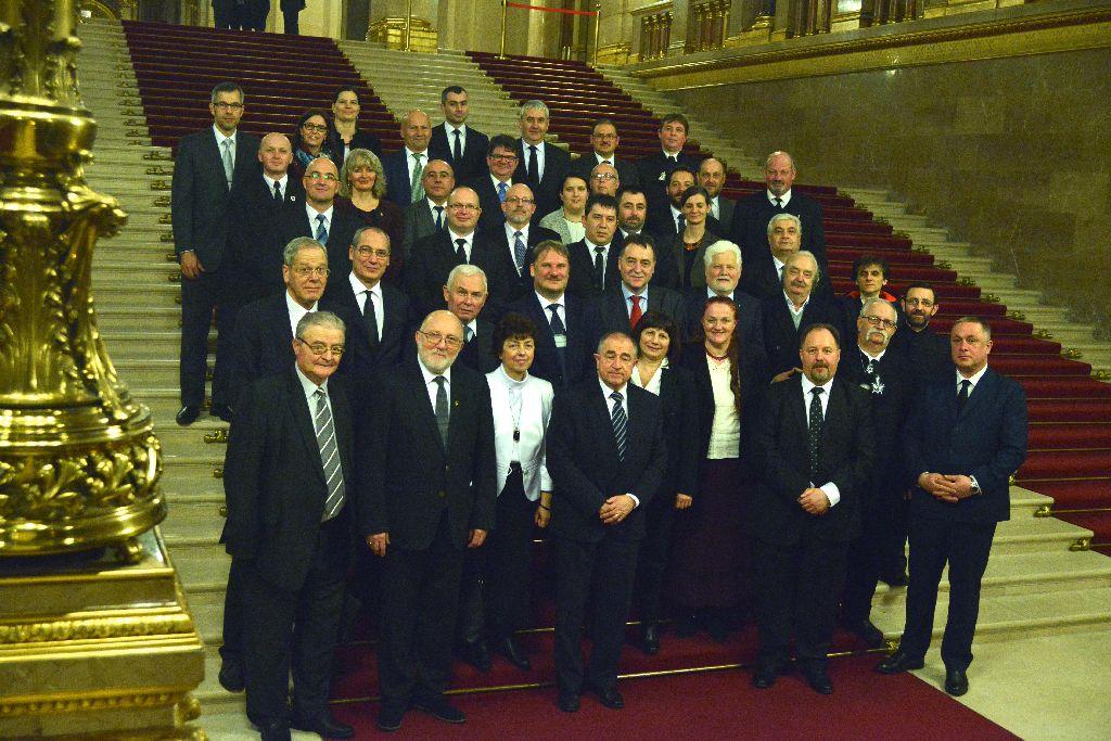 Az Erdélyi Unitárius Egyház és a testvéregyházai küldöttsége az Országházban Fotó: Országgyűlés Sajtóirodája/Pető Zsuzsa