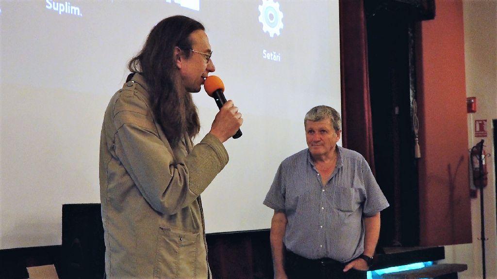 Demeter Elemér és dr. Kelemen András a DVD-bemutatón Fotó: Ștefan Cornel