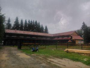 A Horn Dávid Általános Iskola  épen maradt része, ahol a tanítás zajlott