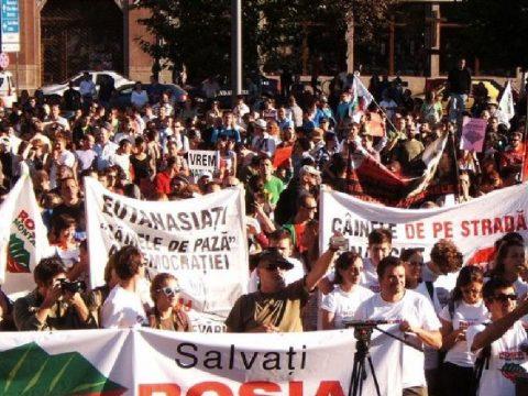 Verespatakért tiltakoztak