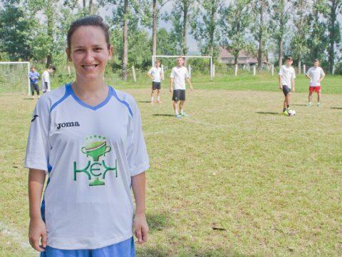 Női focistát is díjaztak