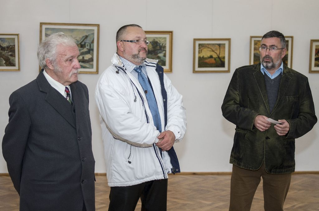Ifjabb Incze István, Incze István Botond és Dimény Attila a november 11-ig látható tárlat megnyitóján