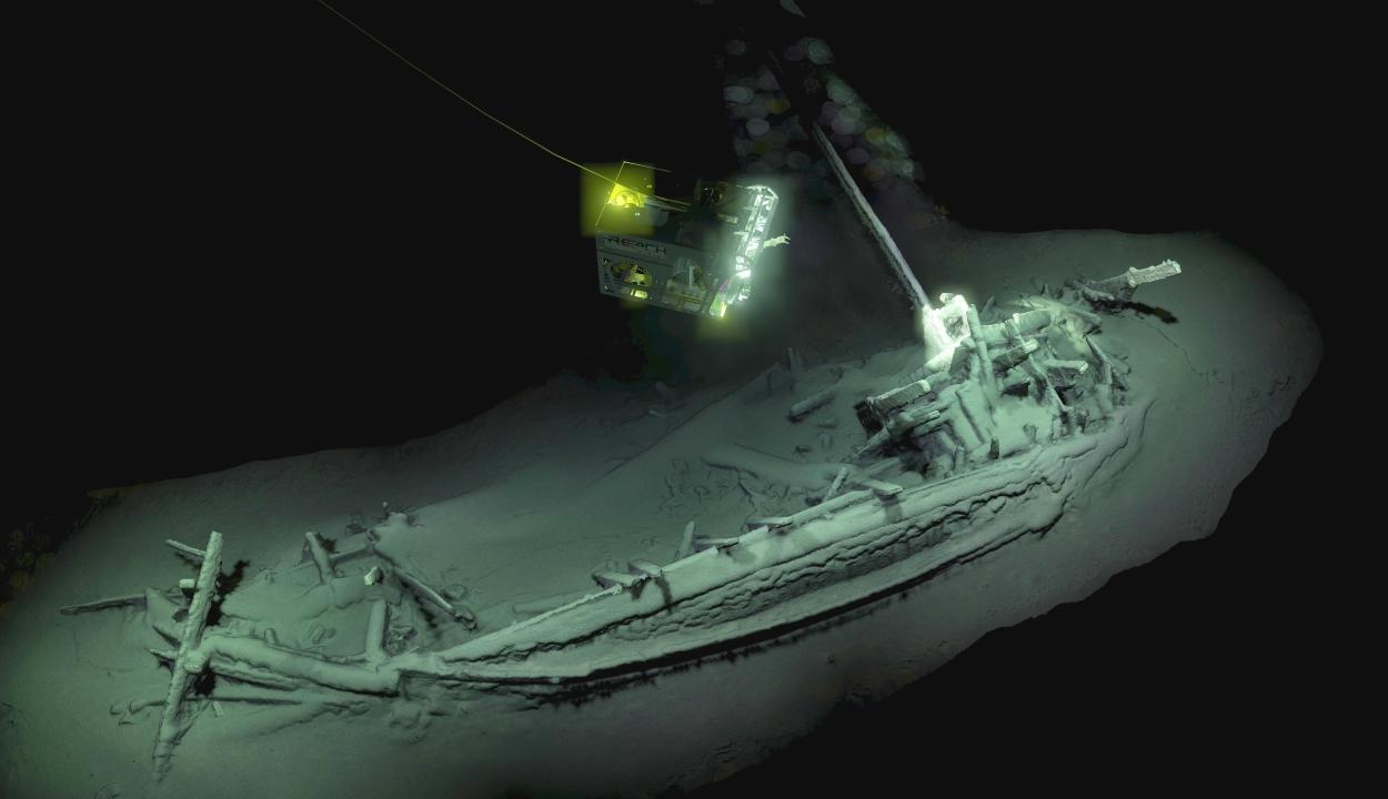 A legrégibb ép hajóroncs került elő a Fekete-tengerben