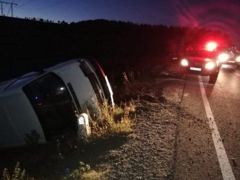 Háromszéki kisbusz balesetezett Szeben megyében
