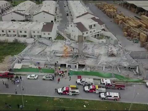 Összeomlott egy mexikói bevásárlóközpont, többen meghaltak