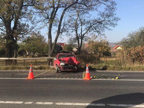 Két autó ütközött Kilyén és Szotyor között