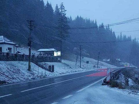 Több helyen is havazott Kovászna megyében