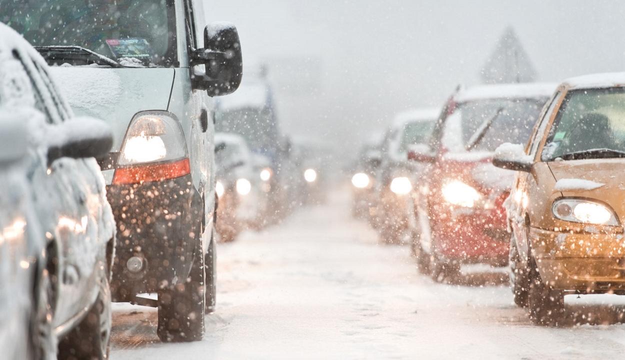 Téli körülmények a háromszéki utakon