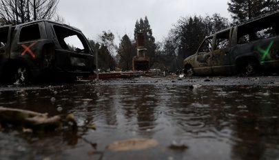 A tűzvész után áradások pusztítanak Kaliforniában
