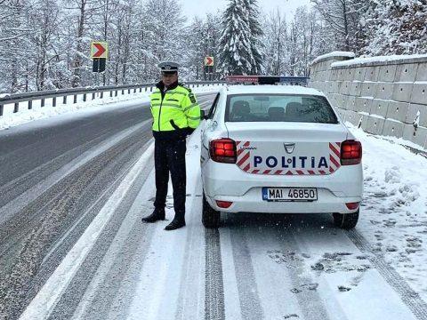 Téli körülmények között lehet közlekedni a megye útjain