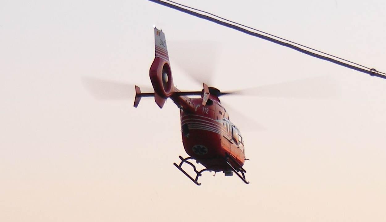 Akadozik a helikopter-leszálló építése