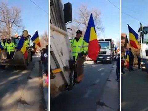 A kukásautókat is felvonultatták a centenáriumi parádén egy román faluban