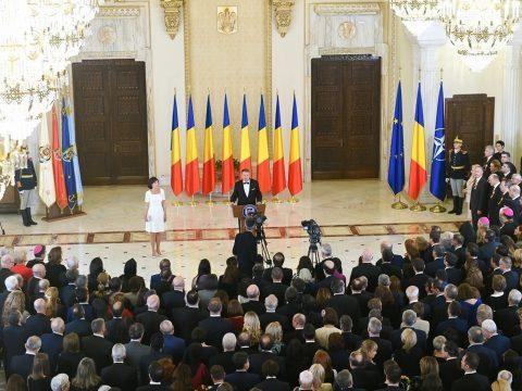 A román nép egységességéről beszélt Johannis a Cotroceni-palotában adott centenáriumi fogadáson