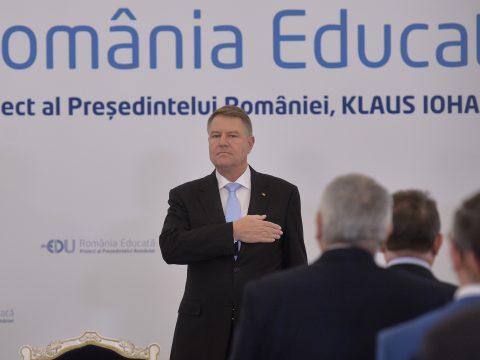 Művelt Románia elnevezéssel kezdeményezett átfogó oktatási projektet Klaus Johannis