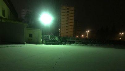 Esti kivilágítás a futópályán