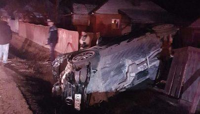 Ripityára tört egy autó Csernátonban, de senki sem sérült meg