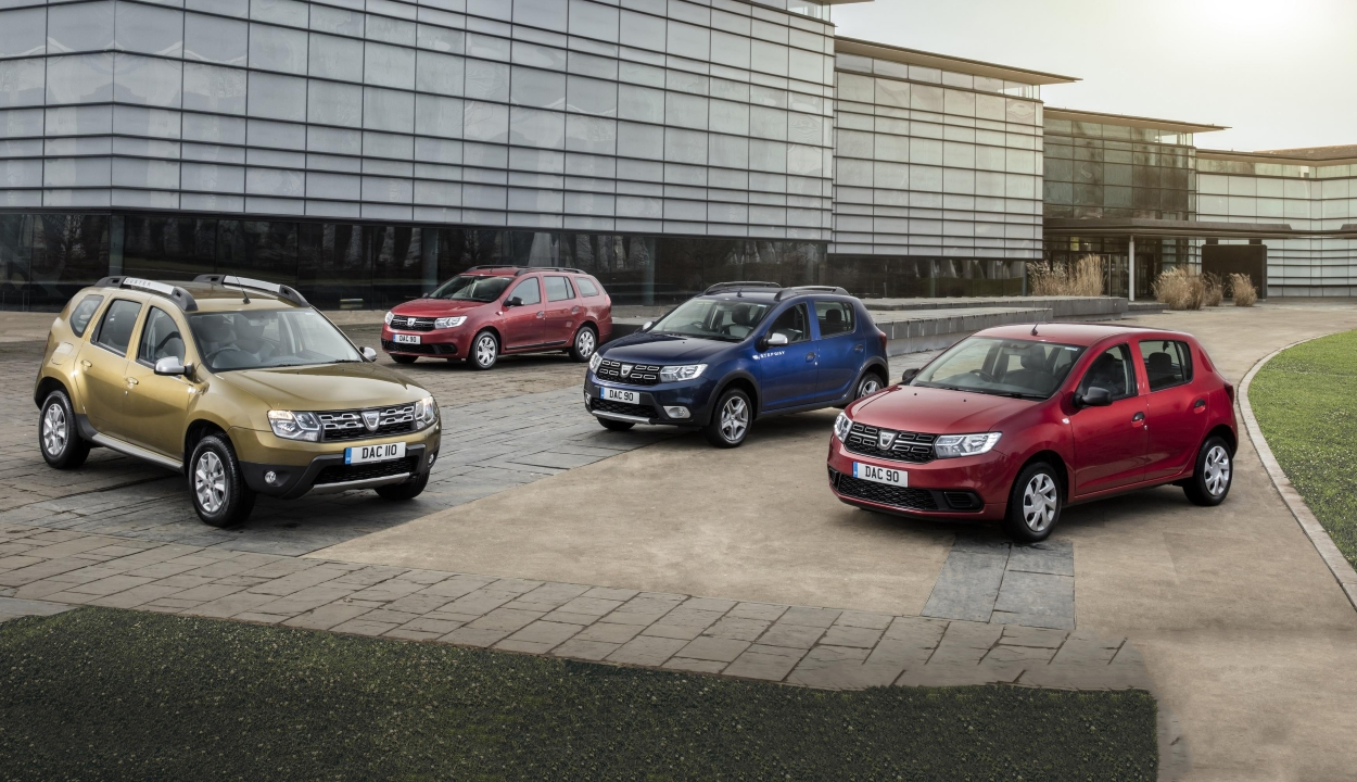 Több mint 736 ezer autót adott el tavaly a Dacia