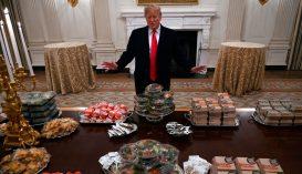 Gyorsétteremből rendelt ételt Trump a Fehér házi bankettre