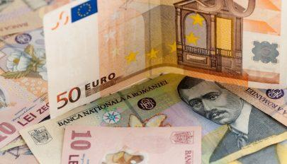 Újabb történelmi mélypontra került a lej az euróhoz képest