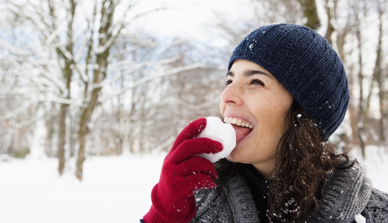 Miért nem jó ötlet havat enni?