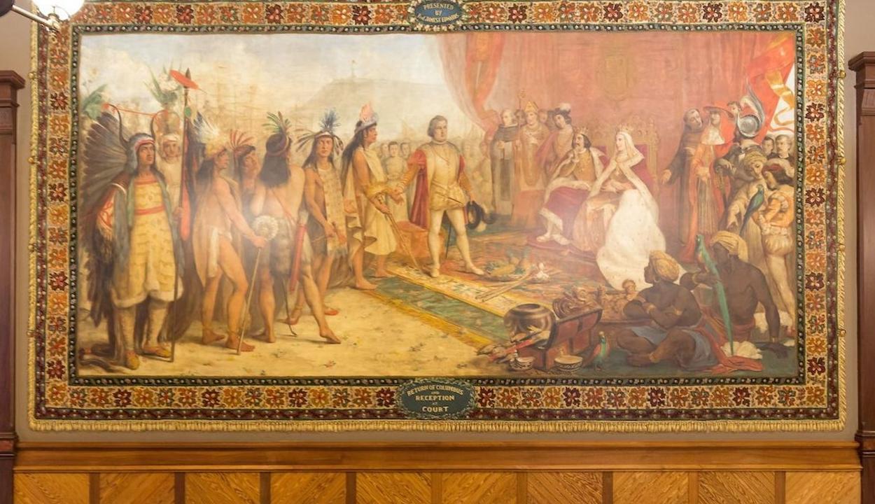 Egy amerikai egyetem letakarja a Kolumbusz Kristófot ábrázoló falfestményeket