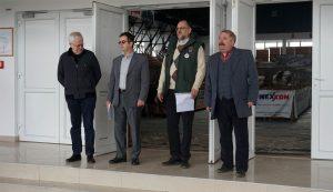 A megnyitón, balról jobbra: Uhrner Antal, dr. Constantinescu Herman, ifj. Domokos József és Bárány István