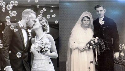 Esküvői fotókból nyílt kiállítás Baróton