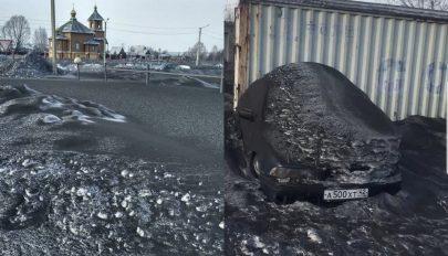 Fekete hó hullott Szibériában, egy szénfeldolgozó lehet a felelős