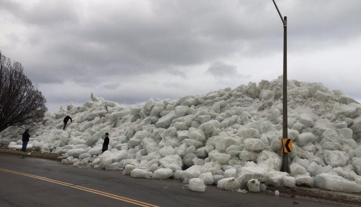Jégcunami zúdult egy amerikai kisvárosra