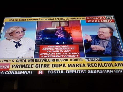 Bombariadó volt a România TV székházánál