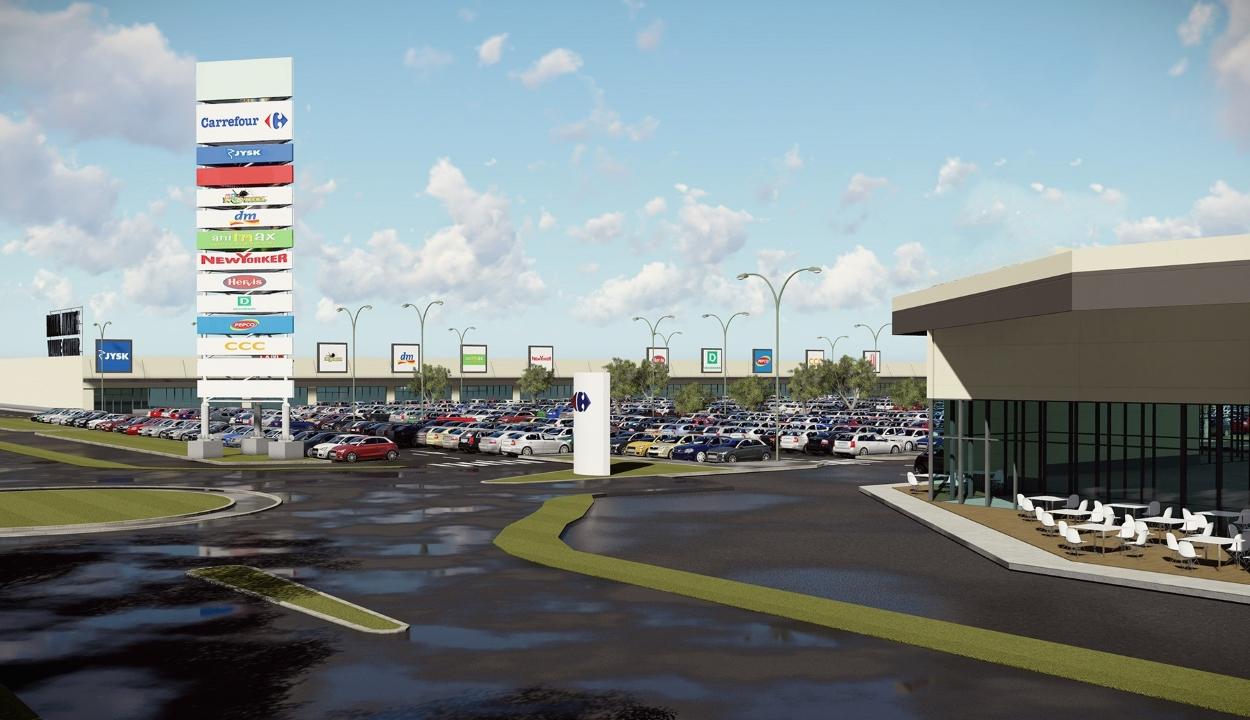 Márciusban nyitja meg kapuit Sepsiszentgyörgy új bevásárlóközpontja