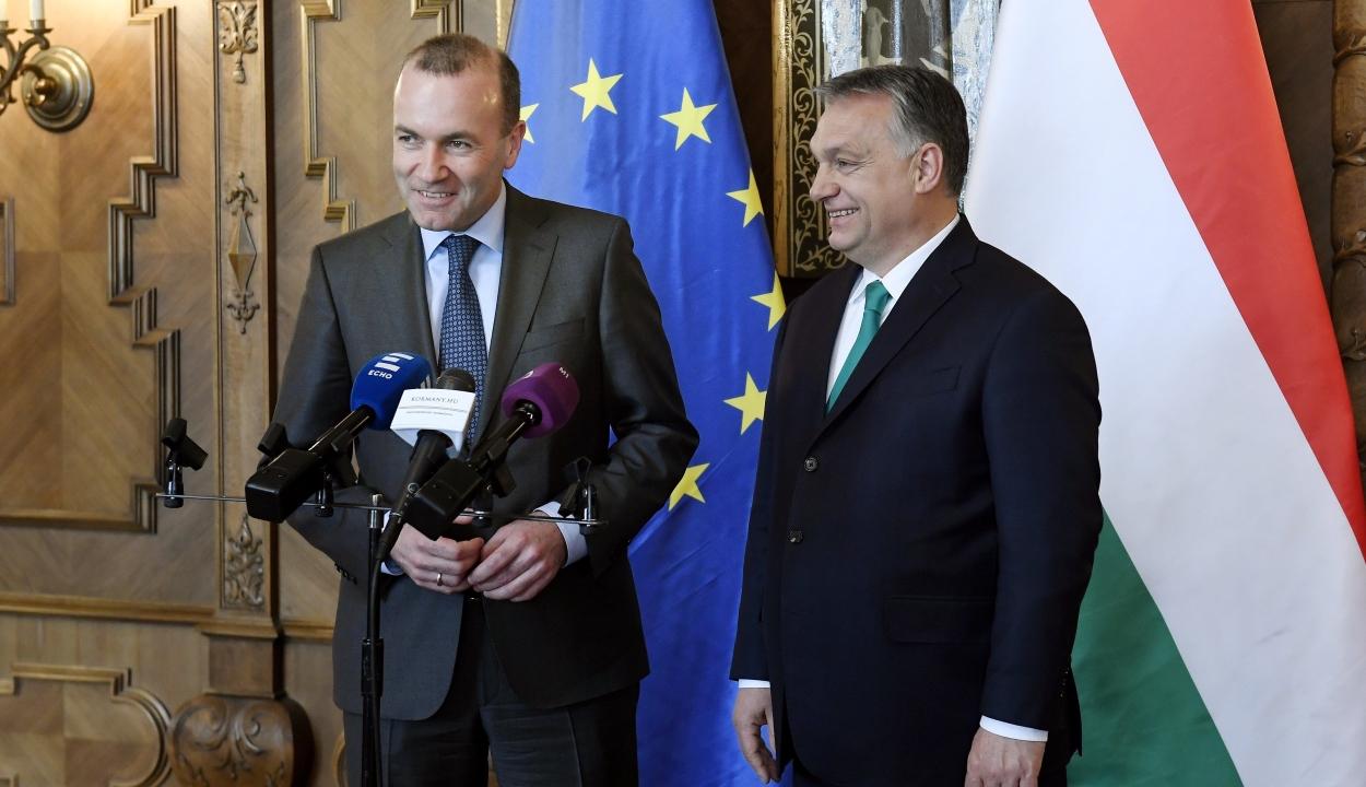 Orbán: a magyar kormány nem támogathatja Manfred Webert
