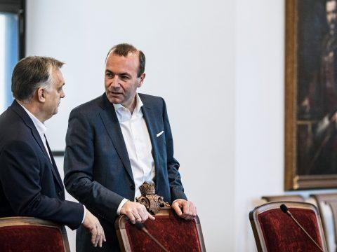 Manfred Weber szerint konstruktív volt az Orbán Viktorral folytatott megbeszélés