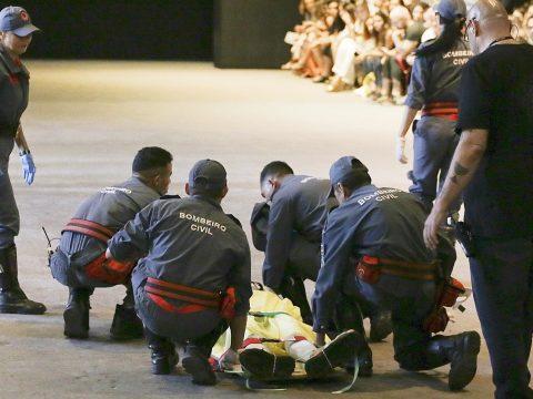 A kifutón esett össze és halt meg egy brazil modell
