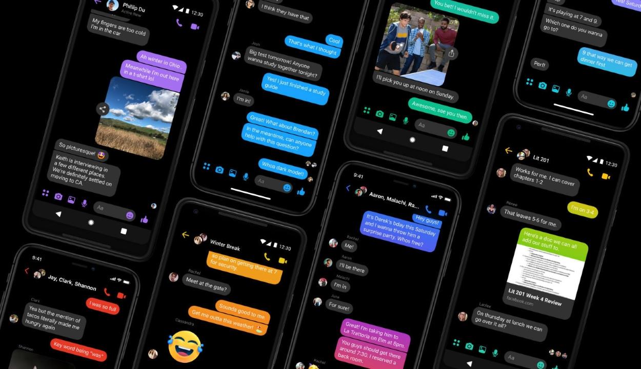 Mostantól mindenkinek elérhető a Facebook Messenger sötét módja