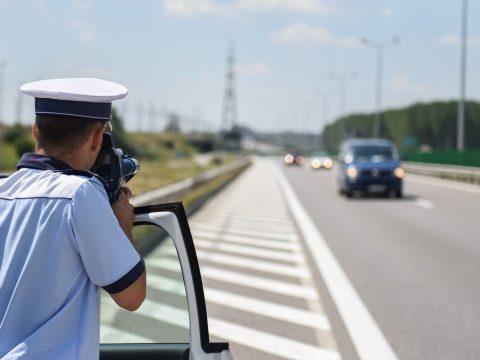 24 órás sebességellenőrző akciót tart a rendőrség