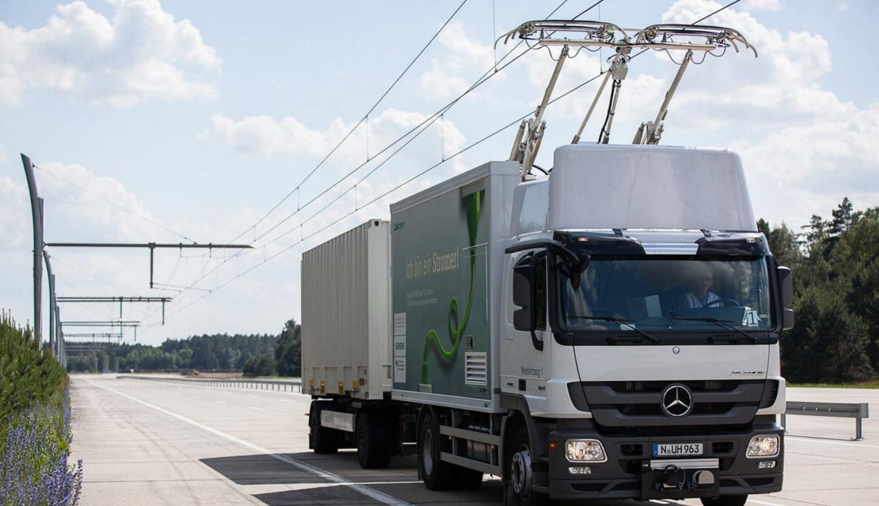 Átadták Németország első villamosított autópálya-szakaszát