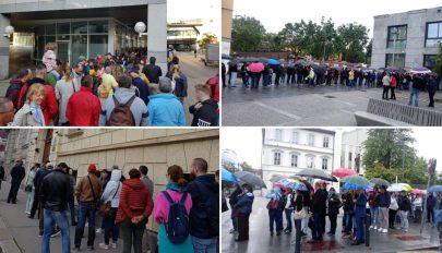 A külügy szerint busszal szállított szavazók miatt voltak zsúfoltak a külföldi szavazókörök