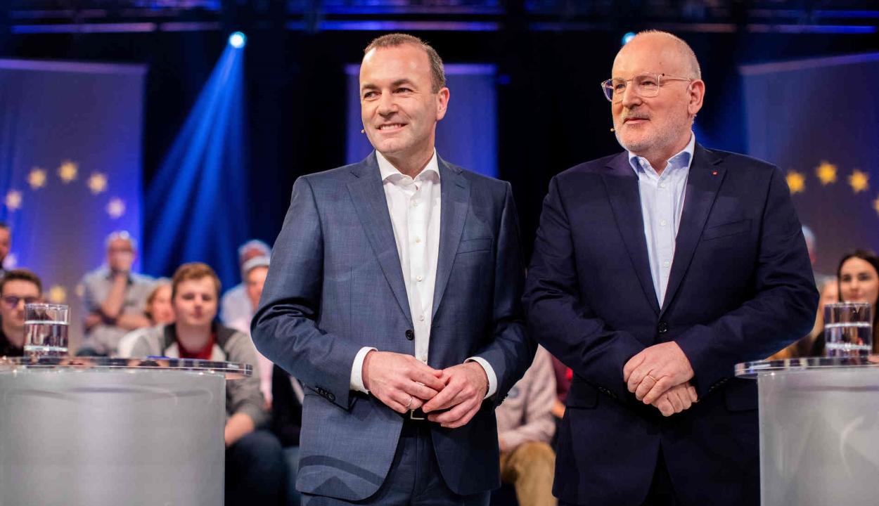 EP-választás: megtartották Manfred Weber és Frans Timmermans első televíziós vitáját