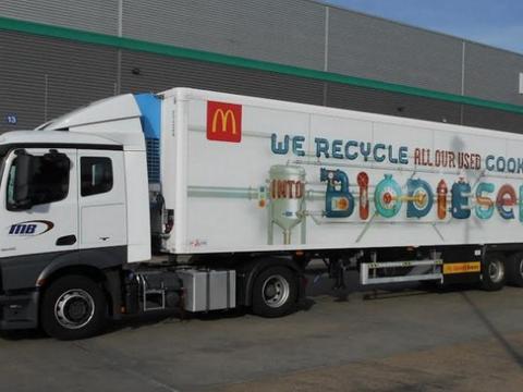 Elhasznált olajat tankol kamionjaiba az egyik gyorsétterem