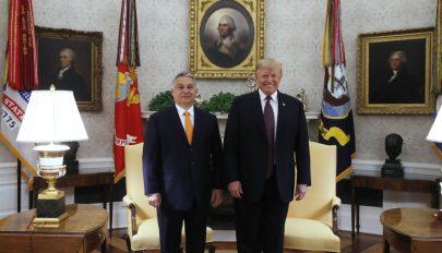 A Fehér Házban tárgyalt Orbán Viktor és Donald Trump