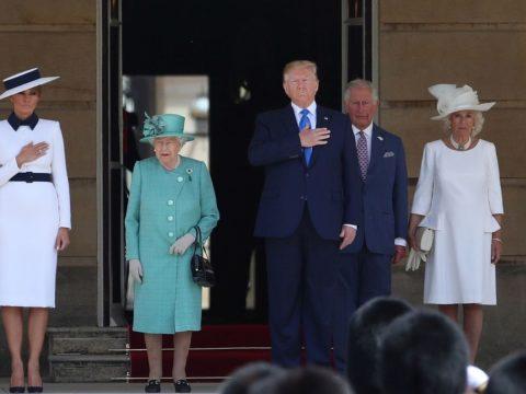 Állami látogatást kezdett Londonban Donald Trump